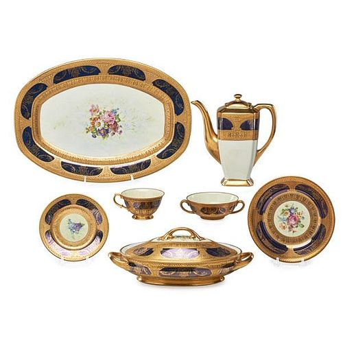 ROMAN GOLD PORCELAIN DINNER SERVICE