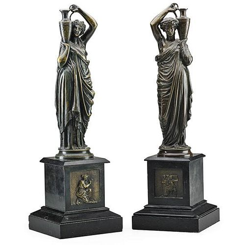 PAIR OF EGYPTIAN REVIVAL BRONZE FIGURES
