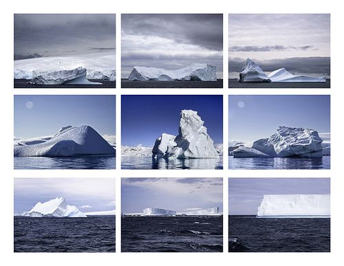 GEORGIE FRIEDMAN, MFA 08 - Nine Icebergs off West Antarctica, Typology V.1, Antarctica Series