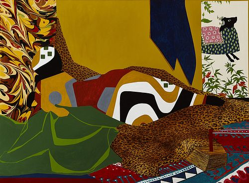 DINORA JUSTICE, MFA 14 - Portrait 5, after Delacroix's Reclining Odalisque.
