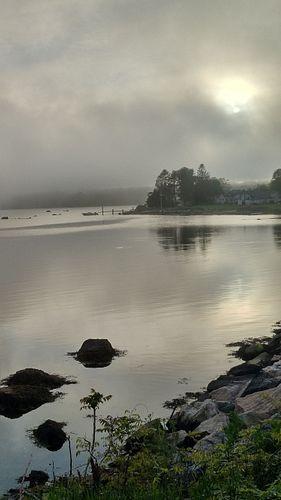 ANNETTE BORN - Foggy Sunset - Lambert's Cove