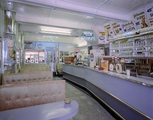 JIM DOW, former faculty - Topham's California Ice Cream Parlour. Bridlington, East Yorkshire, UK 1983