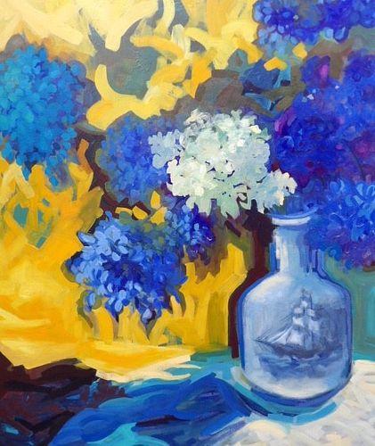 JUDITH MARTINI  - Blue Hydrangeas