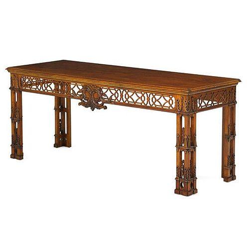 IRISH GEORGE III STYLE MAHOGANY HALL TABLE