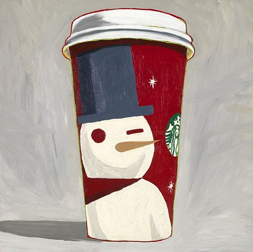 SUSAN JANE BELTON, faculty - Snowman Starbucks