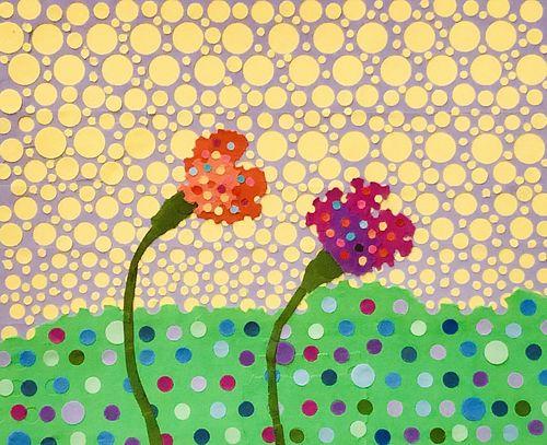 CARL VESTWEBER, MFA 13 - Untitled (Orange and Violet)
