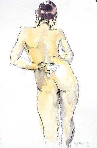 CAROLYN NEWBERGER - Yellow Nude