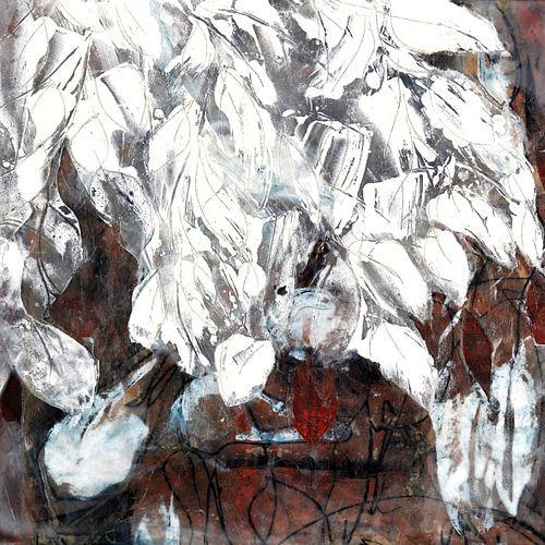 DEBRA CLAFFEY, BFA 81 - White on Maroon