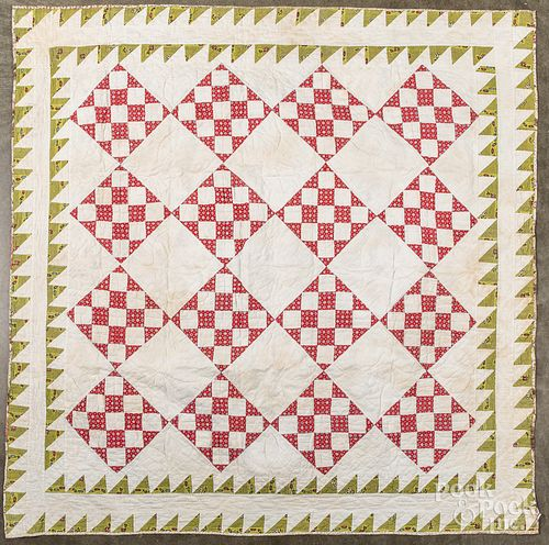 Pieced crib quilt, together with a youth quilt