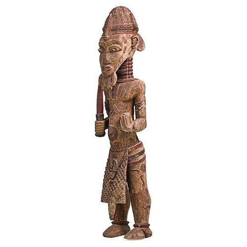 AFRICAN CEREMONIAL CARVED WOOD FIGURE