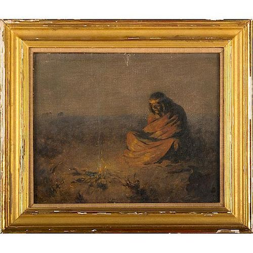 EARLY 20TH C. PAINTING OF AMERICAN INDIAN