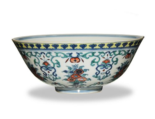 Imperial Chinese Doucai Lotus Bowl, Daoguang