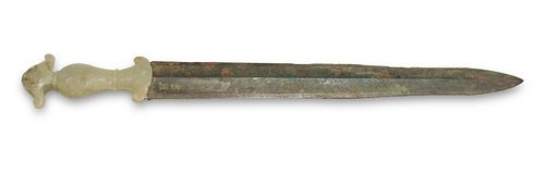 Chinese Bronze Sword, Spring and Autumn to Warring
