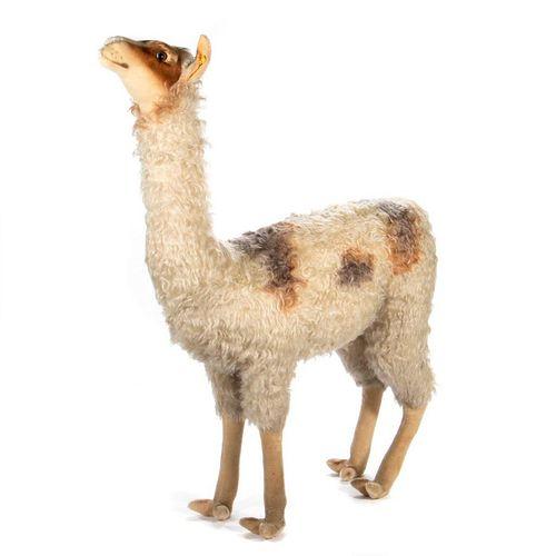 Large Vintage Steiff Llama Store Display