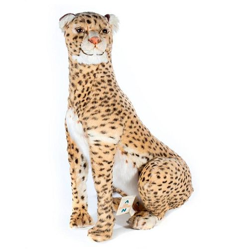 LARGE Vintage French Aux Nations Cheetah Store Display