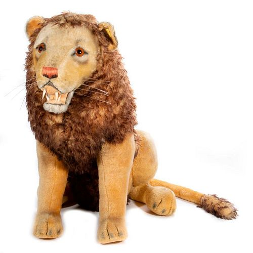 Large Vintage Steiff Lion Store Display
