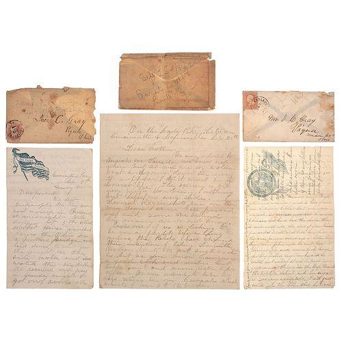 Corporal John H. Gray, 101st Indiana Infantry, Civil War Manuscript Archive