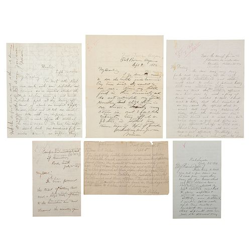 Lieutenant General Nelson A. Miles, Extensive Archive Incl. Personal Correspondence with his Wife, 1863-1900s, Featuring Detailed Letters Discussing I