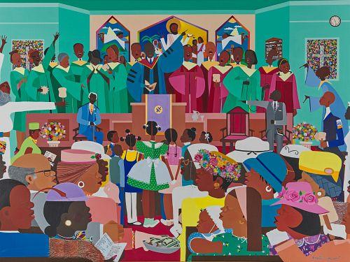 VARNETTE P. HONEYWOOD, (American, 1950-2010), Jesus Loves Me, 1983