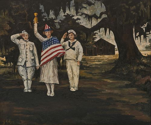 GEORGE RODRIGUE, (American, 1944-2013), Miss 4th of July, 1971