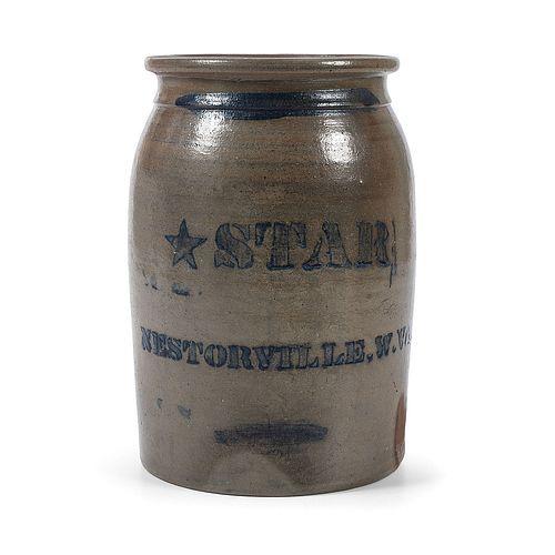 A Rare West Virginia Stoneware Jar