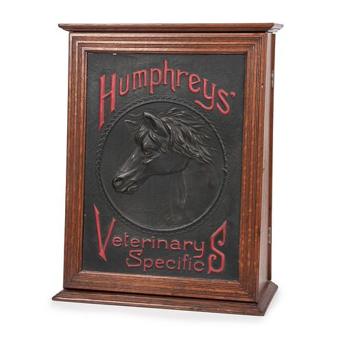 A Humphrey's Veterinary Countertop Display Cabinet