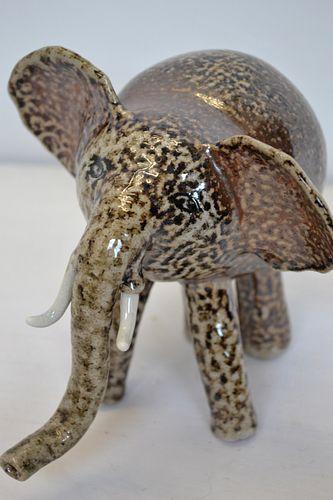 Stella Psillides, Elephant, Salt Fired Ceramics