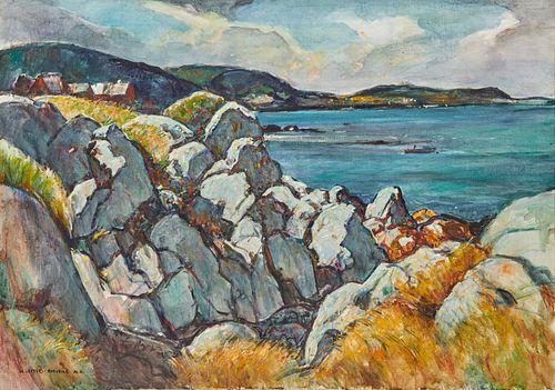WILLIAM LESTER STEVENS, (American, 1888-1969), Grand Manan Rocks