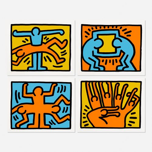 Keith Haring, Pop Shop VI (four works)