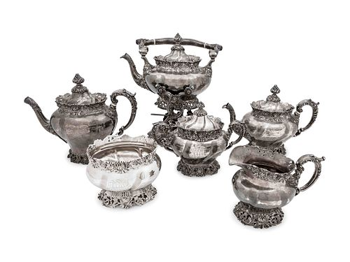 An American Silver Six-Piece Tea and Coffee Service