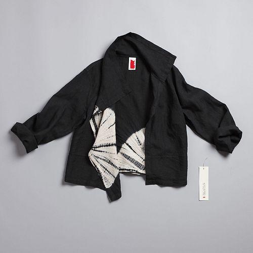 Kuma Merchant Jacket in Anthracite + Ecru