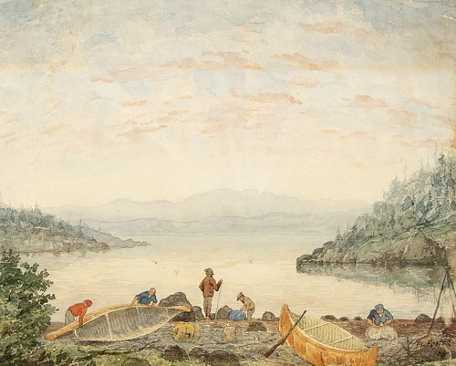Frederick Lucas Foster, Untitled (French Canadian Voyageurs), 1884
