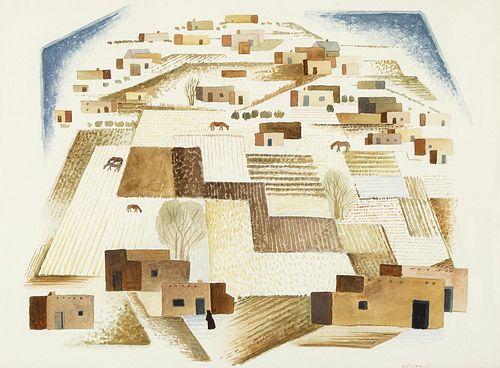 Emil Bisttram, Talpas Valley, 1933