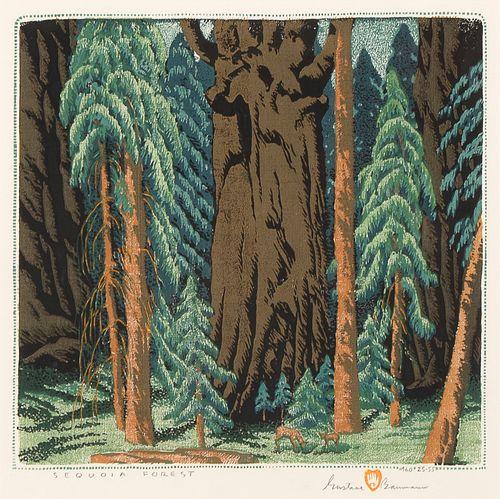 Gustave Baumann, Sequoia Forest, 1960