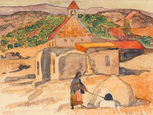Nils Hogner, Untitled (San Antonio Church), 1932