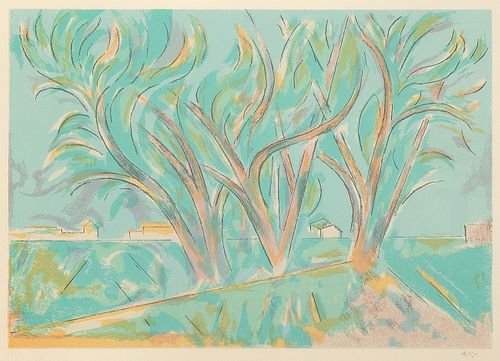 Andrew Dasburg, Trees in Ranchitos II, 1975