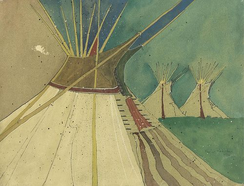 Kevin Red Star, Teepees, 1976