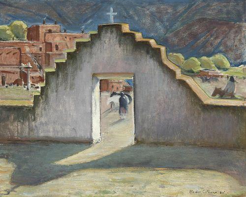 Elanor Colburn, Gateway to Taos, 1930