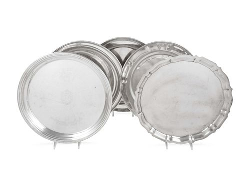 A Group of Five American Silver Serving Dishes