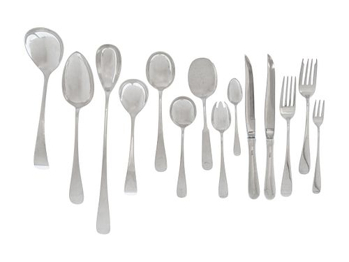 An American Arts & Crafts Silver Flatware Service