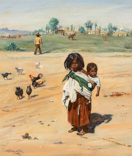 Charles Brinton Cox, Mexican Children, 1902