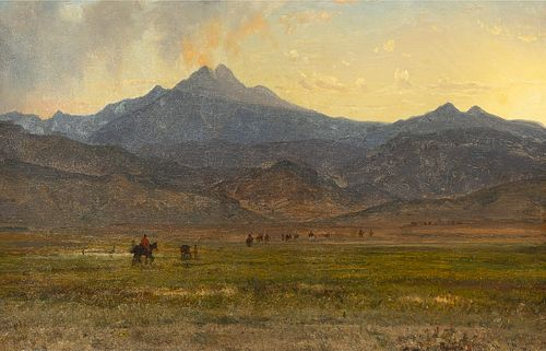 Worthington Whittredge, Long's Peak Sunset, 1870