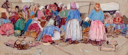 Leon Gaspard, Selling Mushrooms, 1913