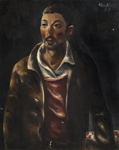 B. J. O. Nordfeldt, Mexican with Pink Sweater, 1937
