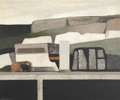 Clinton Adams, Still Life in Western Landscape, 1959