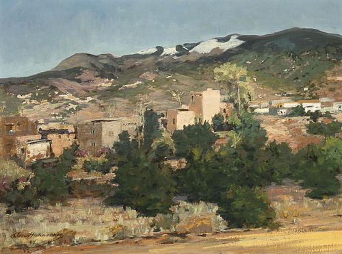 Odon Hullenkremer, Camino Rancheros Toward Espanola, 1948