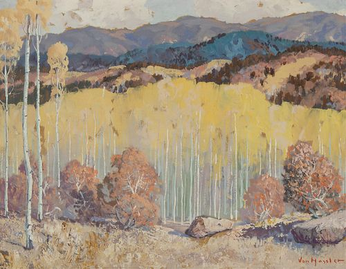 Carl Von Hassler, Untitled (Aspens in the Foothills)