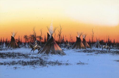 John Paul Strain, Indian Sunset - Winter, 1986
