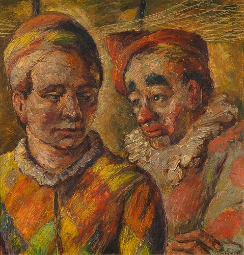 Lester Raymer, Untitled (Clowns), 1947