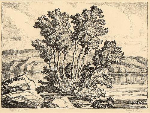 Birger Sandzén, Three Lithographs